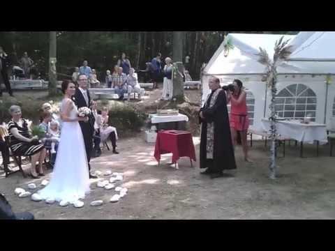 PartyLeaders - svatební obřad s živou hudbou (Hanka + Marek - 24.8.2015)